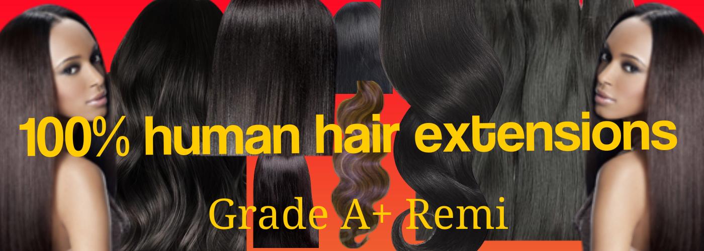 Grade A+ Remi 100 percent human hair
